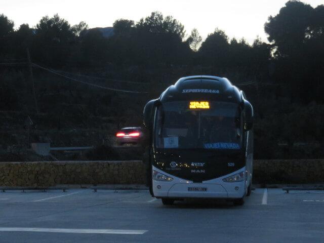 Nuestro autobús nos espera.