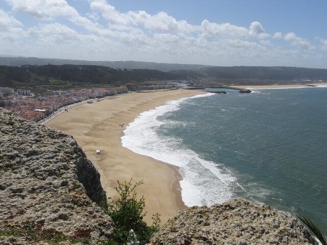 Las playas de Nazaré.