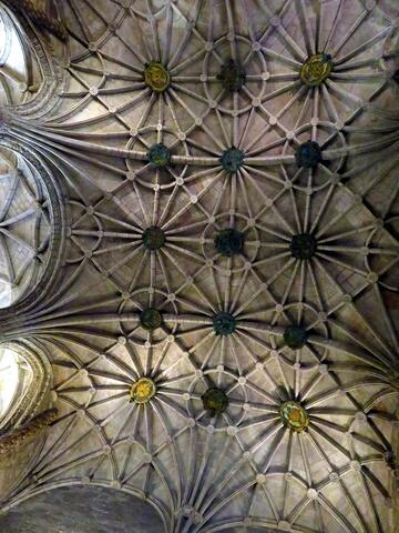 El techo de la iglesia de monasterio de los Jerónimos, Lisboa