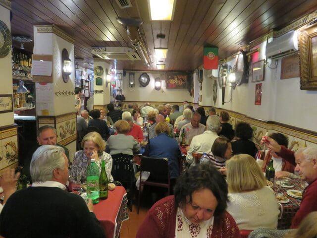 En el restaurante Grand' Elias. Lisboa.