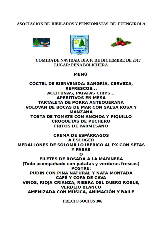 MENU DE NAVIDAD 2017